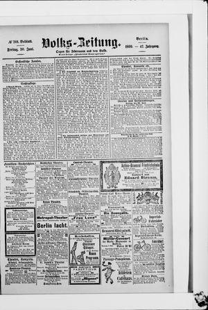 Volks-Zeitung vom 30.06.1899