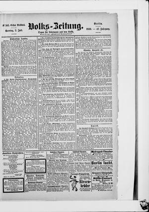 Volks-Zeitung vom 02.07.1899