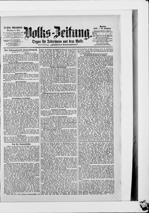 Volks-Zeitung vom 04.07.1899