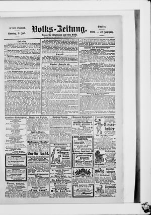 Volks-Zeitung vom 09.07.1899
