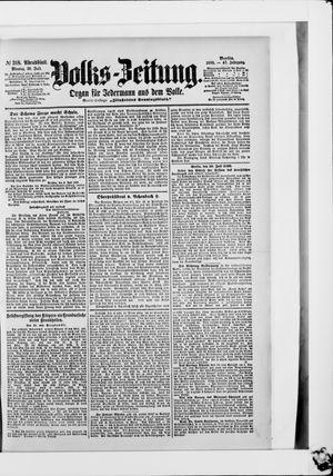 Volks-Zeitung vom 10.07.1899