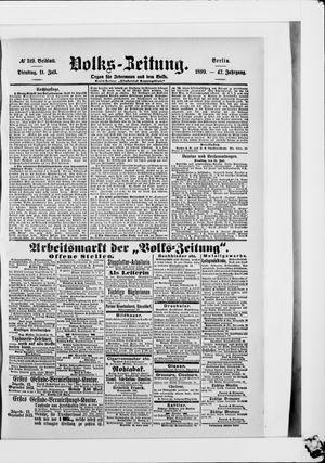 Volks-Zeitung vom 11.07.1899