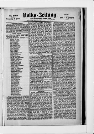 Volks-Zeitung vom 04.01.1900
