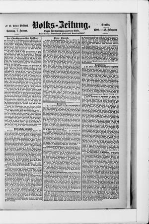Volks-Zeitung vom 07.01.1900