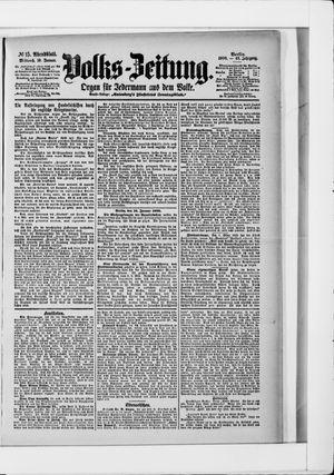 Volks-Zeitung vom 10.01.1900