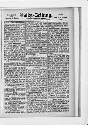 Volks-Zeitung vom 11.01.1900