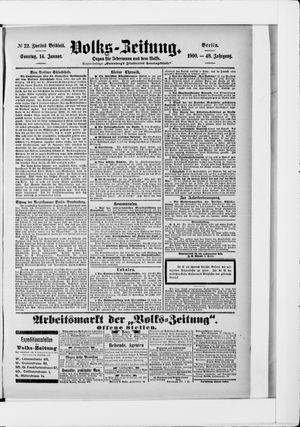 Volks-Zeitung vom 14.01.1900