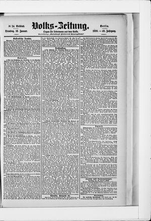 Volks-Zeitung vom 16.01.1900