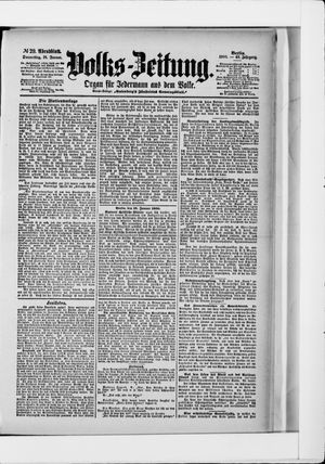 Volks-Zeitung vom 18.01.1900