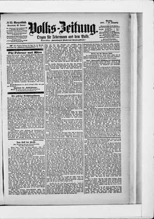 Volks-Zeitung vom 20.01.1900