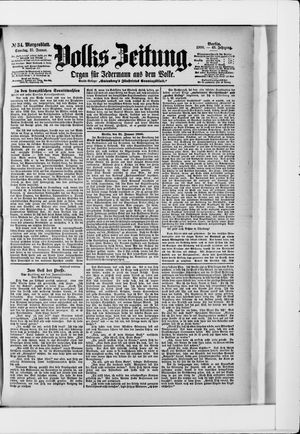 Volks-Zeitung vom 21.01.1900