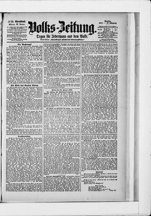 Volks-Zeitung vom 22.01.1900