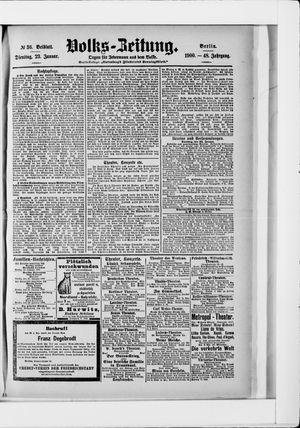 Volks-Zeitung vom 23.01.1900