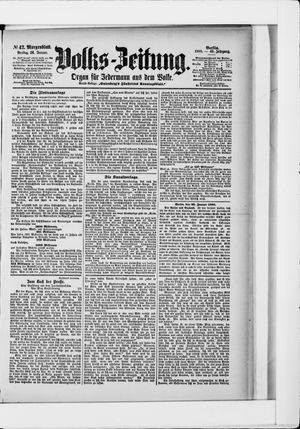 Volks-Zeitung vom 26.01.1900