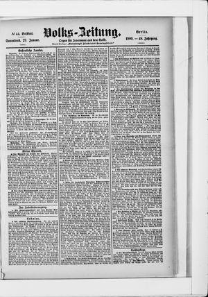 Volks-Zeitung vom 27.01.1900