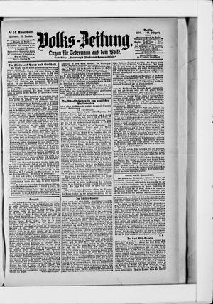 Volks-Zeitung vom 31.01.1900