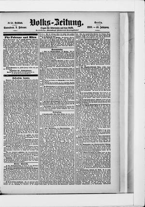 Volks-Zeitung on Feb 3, 1900