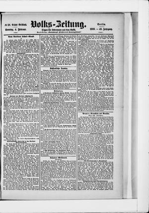 Volks-Zeitung vom 04.02.1900