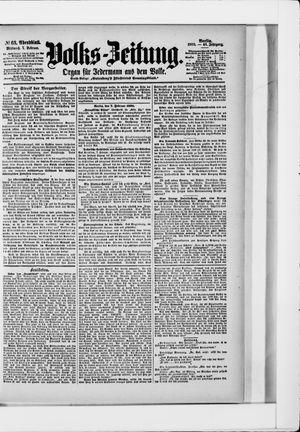 Volks-Zeitung on Feb 7, 1900