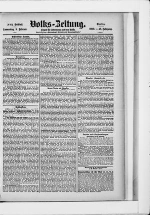 Volks-Zeitung vom 08.02.1900