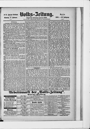 Volks-Zeitung on Feb 11, 1900