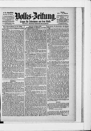 Volks-Zeitung vom 13.02.1900