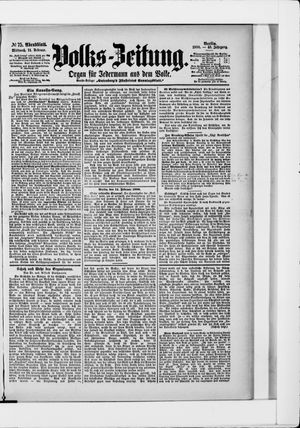 Volks-Zeitung vom 14.02.1900
