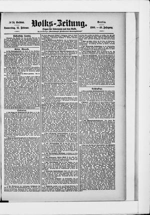 Volks-Zeitung vom 15.02.1900