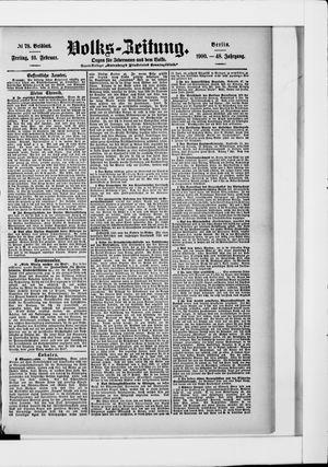 Volks-Zeitung vom 16.02.1900