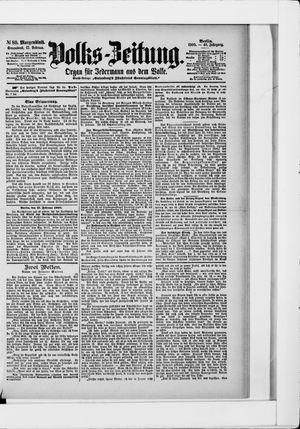Volks-Zeitung vom 17.02.1900