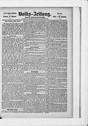 Volks-Zeitung vom 18.02.1900