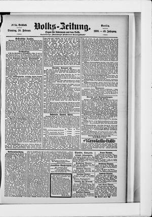 Volks-Zeitung vom 20.02.1900