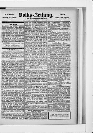 Volks-Zeitung vom 21.02.1900
