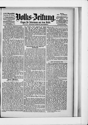Volks-Zeitung vom 22.02.1900