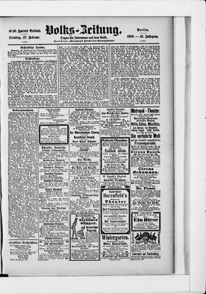 Volks-Zeitung vom 27.02.1900