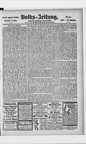 Volks-Zeitung vom 06.03.1900