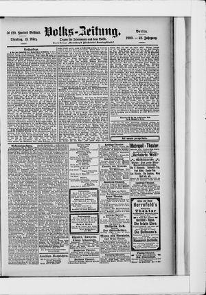 Volks-Zeitung vom 13.03.1900