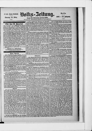 Volks-Zeitung vom 25.03.1900