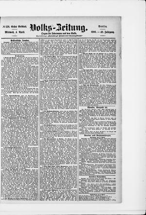 Volks-Zeitung on Apr 4, 1900