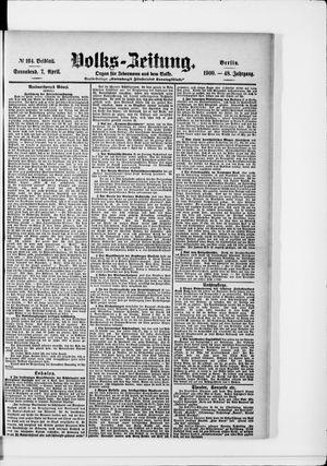 Volks-Zeitung vom 07.04.1900