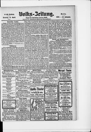 Volks-Zeitung vom 10.04.1900