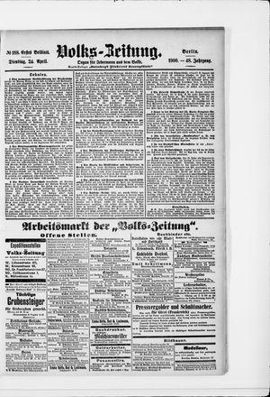 Volks-Zeitung vom 24.04.1900