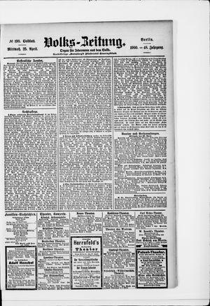 Volks-Zeitung vom 25.04.1900