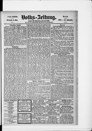 Volks-Zeitung vom 09.05.1900