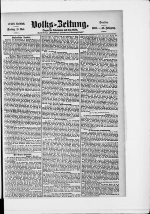 Volks-Zeitung vom 11.05.1900