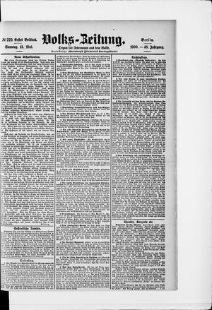 Volks-Zeitung vom 13.05.1900