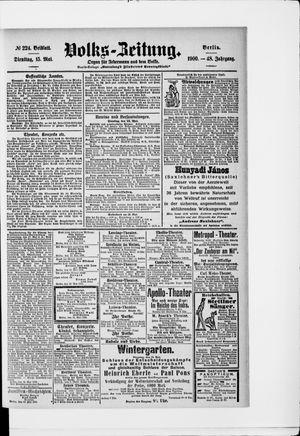Volks-Zeitung vom 15.05.1900