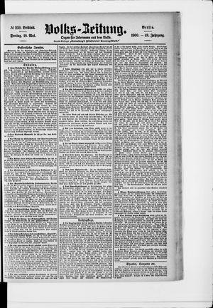 Volks-Zeitung vom 18.05.1900
