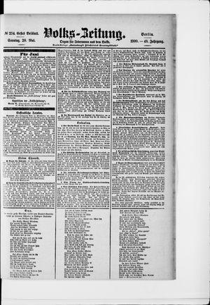 Volks-Zeitung vom 20.05.1900