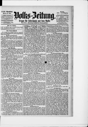 Volks-Zeitung vom 21.05.1900